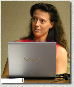 Ann Barnhardt demonstrates the Marketing subscription web page.