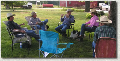 On Sunday, Bud gave a talk to the crew of the Kelley Ranch.